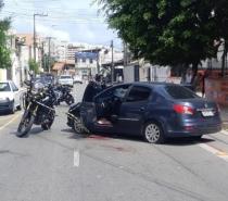 Marido mata mulher a tiros e joga vítima de carro em movimento em viaduto de Fortaleza