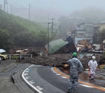 Deslizamento de terra deixa desaparecidos no Japão